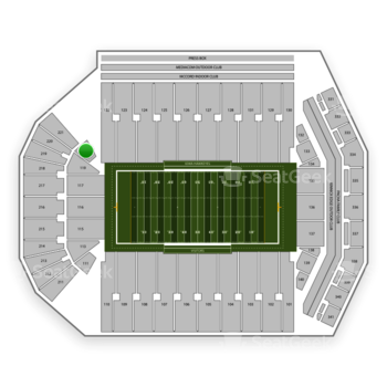 Iowa Hawkeyes Football at Kinnick Stadium Section 121 View