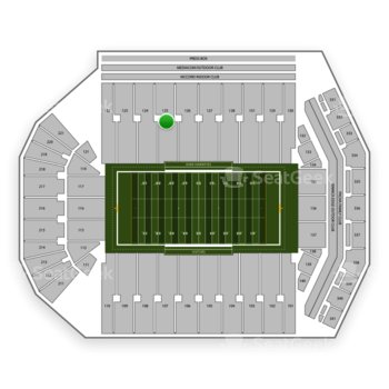 Iowa Hawkeyes Football at Kinnick Stadium Section 125 View