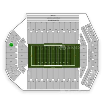 Iowa Hawkeyes Football at Kinnick Stadium Section 218 View