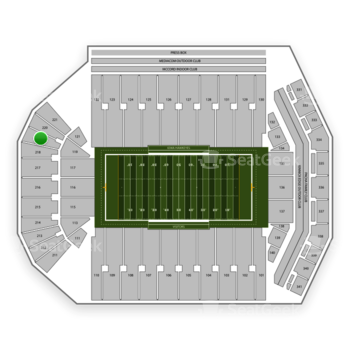 Iowa Hawkeyes Football at Kinnick Stadium Section 219 View