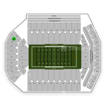 Iowa Hawkeyes Football at Kinnick Stadium Section 220 View