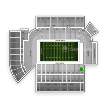 Georgia Tech Yellow Jackets Football at Bobby Dodd Stadium Section 101 View
