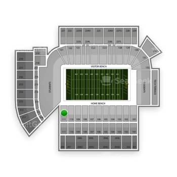 Georgia Tech Yellow Jackets Football at Bobby Dodd Stadium Section 111 View