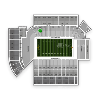 Georgia Tech Yellow Jackets Football at Bobby Dodd Stadium Section 122 View