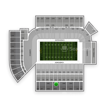 Georgia Tech Yellow Jackets Football at Bobby Dodd Stadium Section 205 View