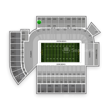 Georgia Tech Yellow Jackets Football at Bobby Dodd Stadium Section 221 View