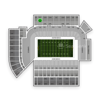 Georgia Tech Yellow Jackets Football at Bobby Dodd Stadium Section 222 View
