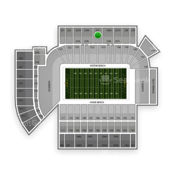 Georgia Tech Yellow Jackets Football at Bobby Dodd Stadium Section 225 View
