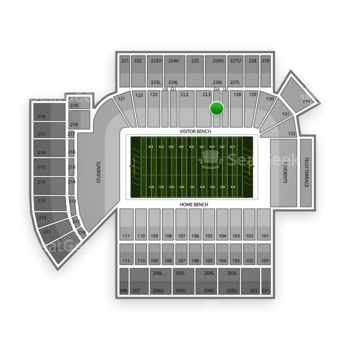 Georgia Tech Yellow Jackets Football at Bobby Dodd Stadium Cl 4 View
