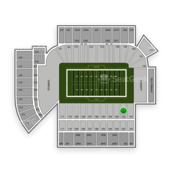 Georgia Tech Yellow Jackets Football at Bobby Dodd Stadium Section 102 View