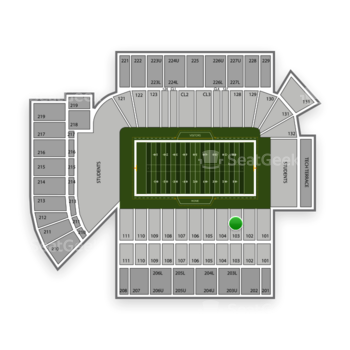 Georgia Tech Yellow Jackets Football at Bobby Dodd Stadium Section 103 View