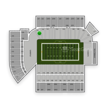 Georgia Tech Yellow Jackets Football at Bobby Dodd Stadium Section 121 View