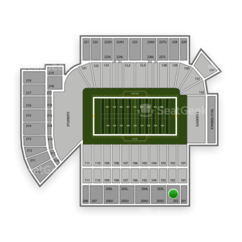 Georgia Tech Yellow Jackets Football at Bobby Dodd Stadium Section 202 View