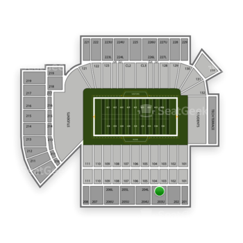 Georgia Tech Yellow Jackets Football at Bobby Dodd Stadium Section 203 View