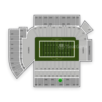 Georgia Tech Yellow Jackets Football at Bobby Dodd Stadium Section 204 View