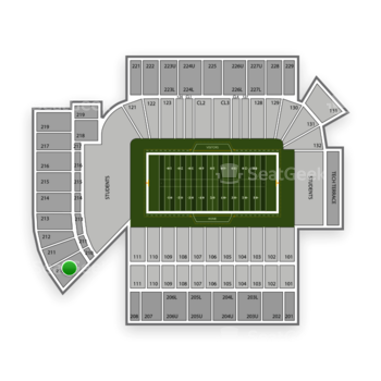 Georgia Tech Yellow Jackets Football at Bobby Dodd Stadium Section 210 View
