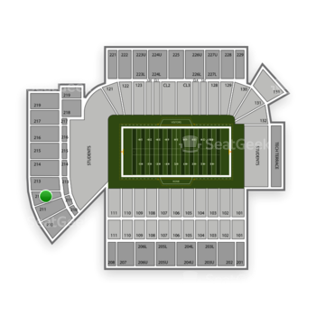 Georgia Tech Yellow Jackets Football at Bobby Dodd Stadium Section 212 View
