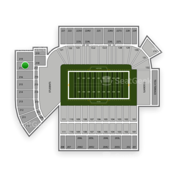 Georgia Tech Yellow Jackets Football at Bobby Dodd Stadium Section 217 View
