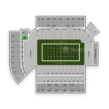 Georgia Tech Yellow Jackets Football at Bobby Dodd Stadium Section 218 View