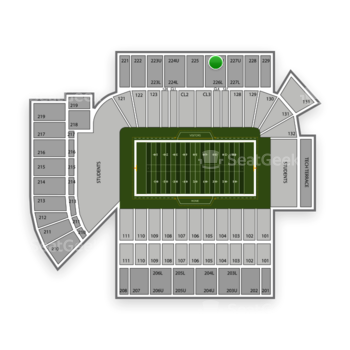 Georgia Tech Yellow Jackets Football at Bobby Dodd Stadium Section 226 View