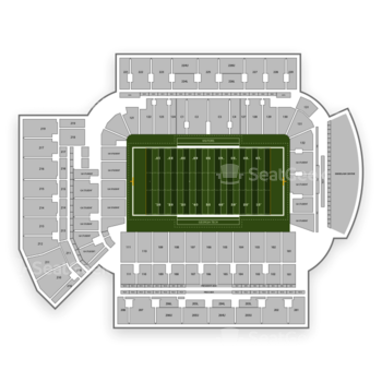 Georgia Tech Yellow Jackets Football at Bobby Dodd Stadium Section 206 View