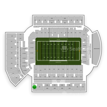 Georgia Tech Yellow Jackets Football at Bobby Dodd Stadium Section 208 View