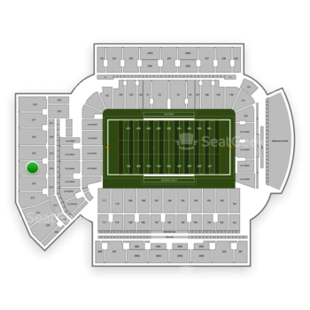 Georgia Tech Yellow Jackets Football at Bobby Dodd Stadium Section 214 View