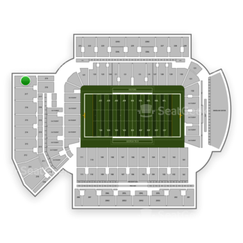 Georgia Tech Yellow Jackets Football at Bobby Dodd Stadium Section 219 View