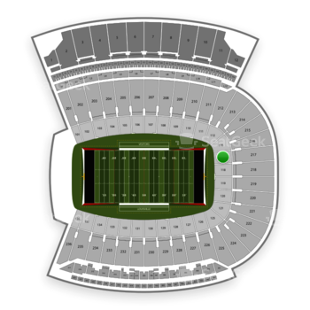 Louisville Cardinals Football at Papa John's Cardinal Stadium Section 117 View