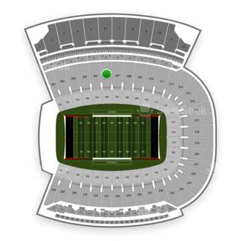Louisville Cardinals Football at Papa John's Cardinal Stadium Section 206 View