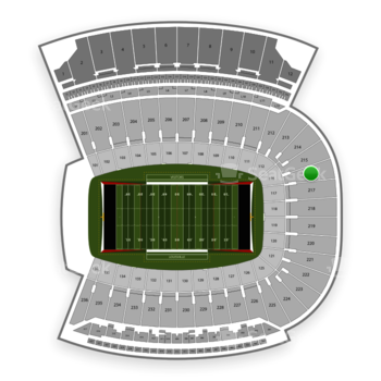 Louisville Cardinals Football at Papa John's Cardinal Stadium Section 216 View