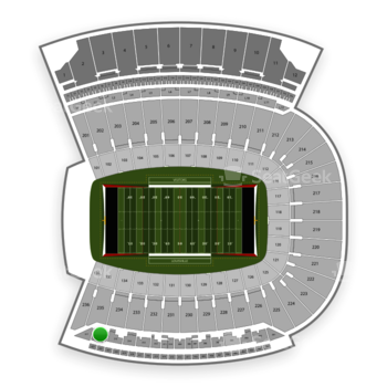 Louisville Cardinals Football at Papa John's Cardinal Stadium Section 316 View