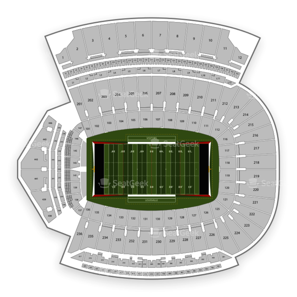 Louisville Cardinals Football Seating Chart