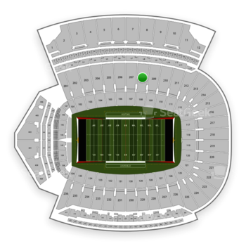 Louisville Cardinals Football at Cardinal Stadium Section 208 View
