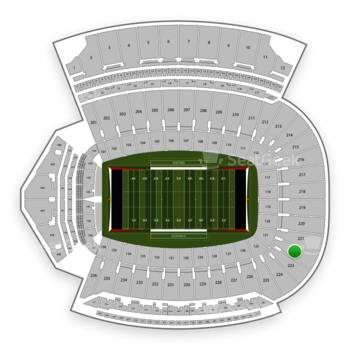 Louisville Cardinals Football at Cardinal Stadium Section 222 View