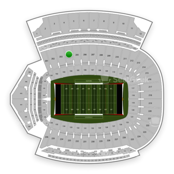 Louisville Cardinals Football at Papa John's Cardinal Stadium Section 204 View