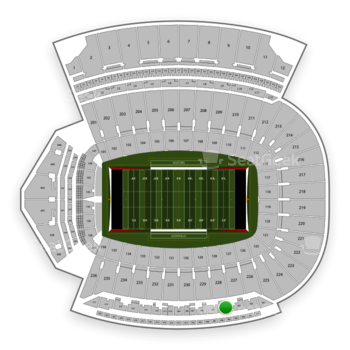 Louisville Cardinals Football at Papa John's Cardinal Stadium Section 304 View