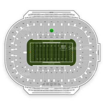 Notre Dame Fighting Irish Football at Notre Dame Stadium Section 10 View