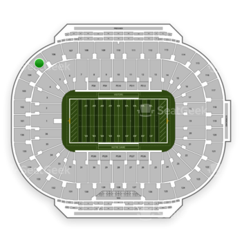 Notre Dame Fighting Irish Football at Notre Dame Stadium Section 105 View
