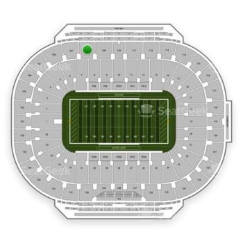 Notre Dame Fighting Irish Football at Notre Dame Stadium Section 108 View