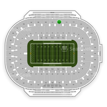 Notre Dame Fighting Irish Football at Notre Dame Stadium Section 111 View