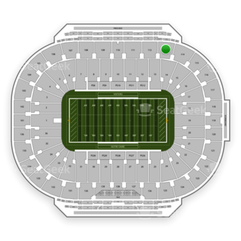Notre Dame Fighting Irish Football at Notre Dame Stadium Section 113 View