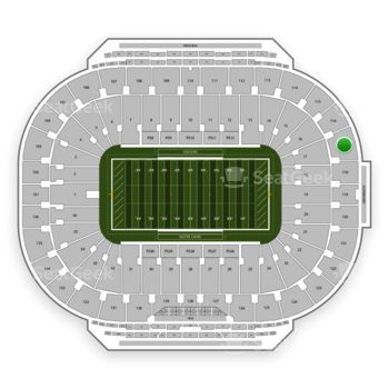 Notre Dame Fighting Irish Football at Notre Dame Stadium Section 117 View