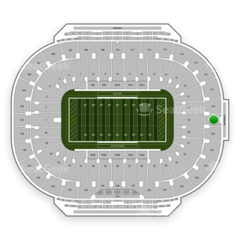 Notre Dame Fighting Irish Football at Notre Dame Stadium Section 119 View