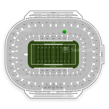 Notre Dame Fighting Irish Football at Notre Dame Stadium Section 12 View