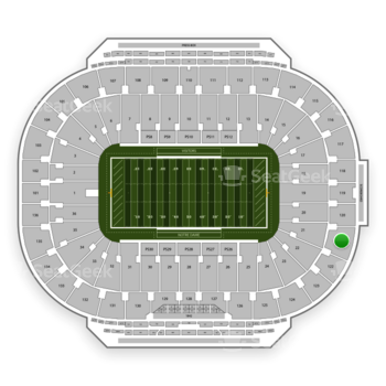 Notre Dame Fighting Irish Football at Notre Dame Stadium Section 121 View
