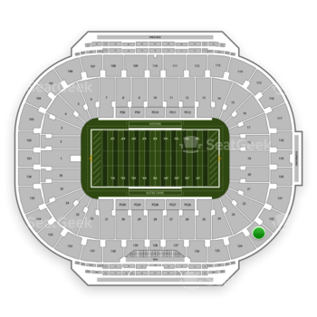 Notre Dame Fighting Irish Football at Notre Dame Stadium Section 123 View