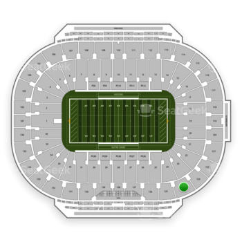 Notre Dame Fighting Irish Football at Notre Dame Stadium Section 124 View