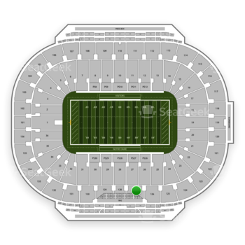 Notre Dame Fighting Irish Football at Notre Dame Stadium Section 127 View