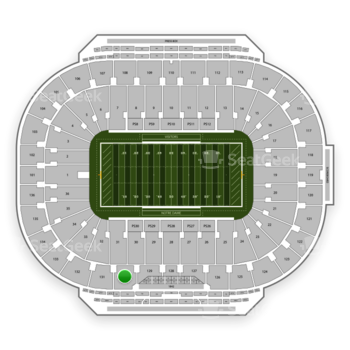 Notre Dame Fighting Irish Football at Notre Dame Stadium Section 130 View